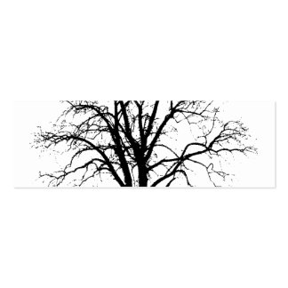 Leafless Tree In Winter Silhouette Pack Of Skinny Business Cards