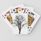 Leafless Tree In Winter Silhouette Playing Cards