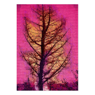 Leafless tree painting business card templates