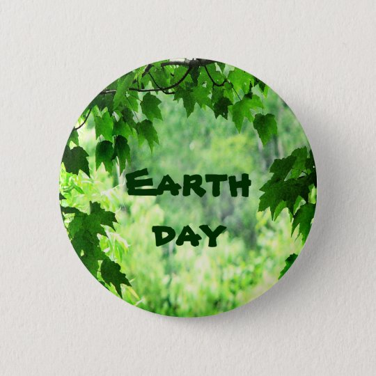 Leafy Earth Day 6 Cm Round Badge