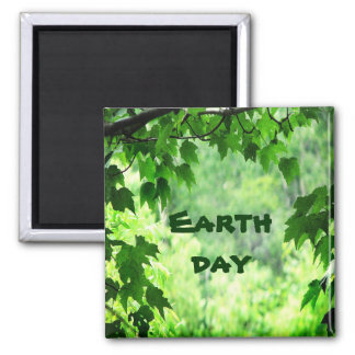 Leafy Earth Day Magnet