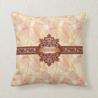 Leafy fall gothic American MoJo Pillow