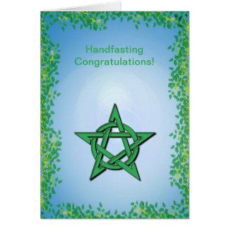 Leafy Glade Pagan Handfasting Congratulations Greeting Card