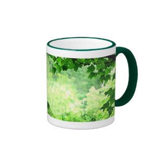 Leafy Green Ringer Mug