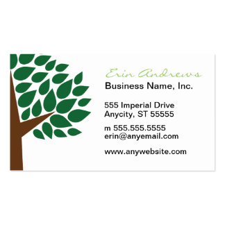 Leafy Green Tree Pack Of Standard Business Cards