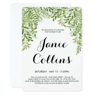 Leafy Greens Bridal Shower Card