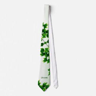Leafy Groom Tie
