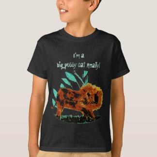 Leafy Lion Wild Animal Artwork T Shirts