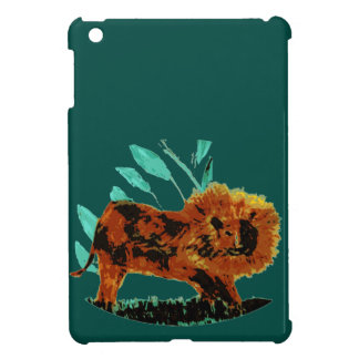 Leafy Lion Wild Animal illustration Cover For The iPad Mini