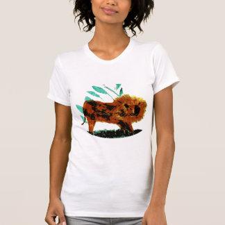Leafy Lion Wild Animal illustration T Shirts
