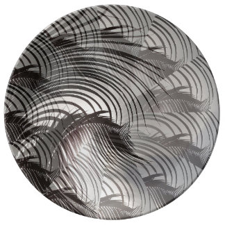 Leafy Patterns Illusions Digital Art Abstract Plate