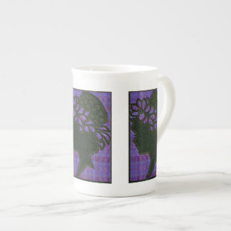 Leafy Purple Hat Bone China Mug