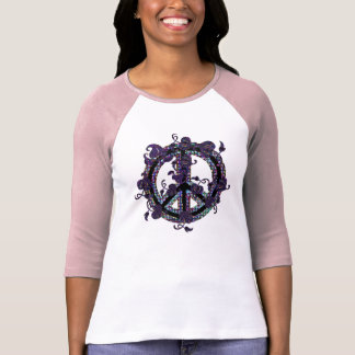 Leafy Scroll Peace Sign T-Shirt