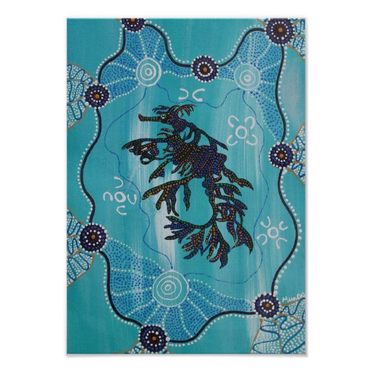 LEAFY SEA DRAGON Canvas print by Mundara