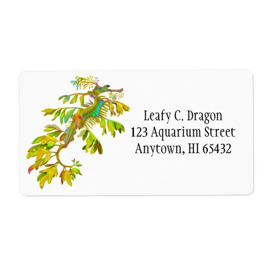 Leafy Sea Dragon Customisable Label Shipping Label