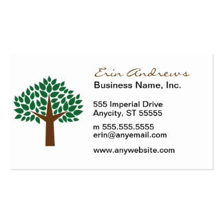 Leafy Tree Pack Of Standard Business Cards