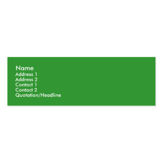 Leafy Treehugger Skinny Profile Cards Double-Sided Mini Business Cards (Pack Of 20)