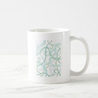 Leafy vines basic white mug