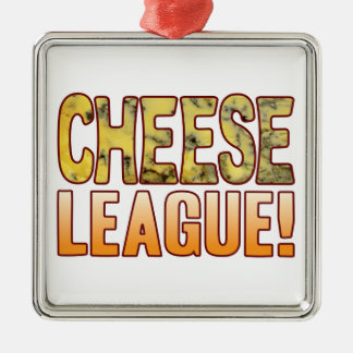League Blue Cheese Silver-Colored Square Decoration