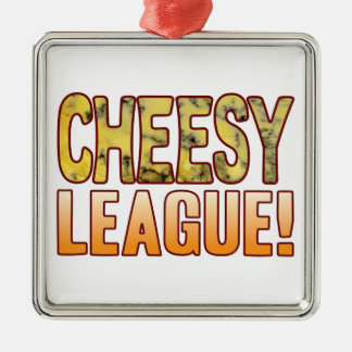 League Blue Cheesy Silver-Colored Square Decoration