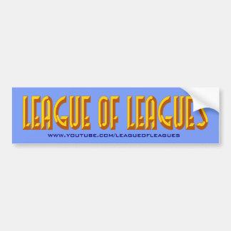 League Bumper Bumper Sticker