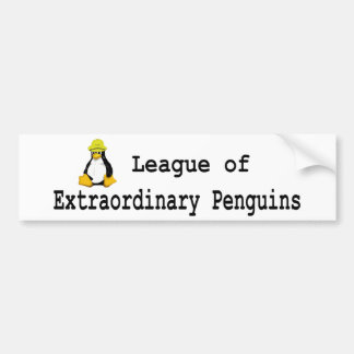 League of Extraordinary Penguins 2 Bumper Sticker