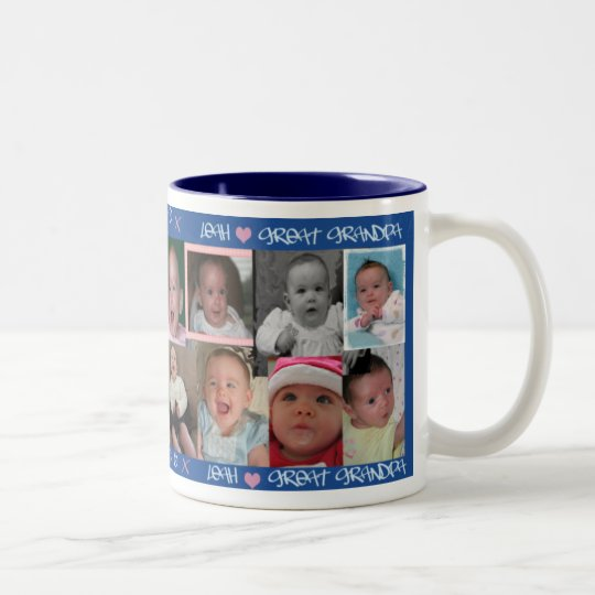 Leah Loves Great-Grandpa Two-Tone Coffee Mug