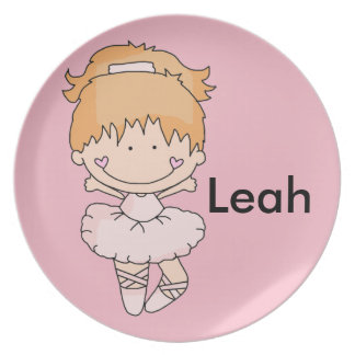 Leah's Personalized Ballet Plate