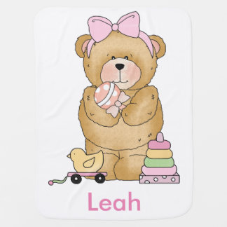 Leah's Teddy Bear Personalized Gifts Baby Blanket