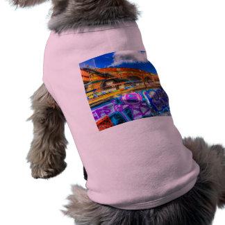 Leake Street and Police Car Sleeveless Dog Shirt
