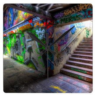 Leake Street London Graffiti Wallclock