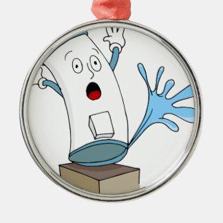 Leaking Water Heater Cartoon Christmas Ornament
