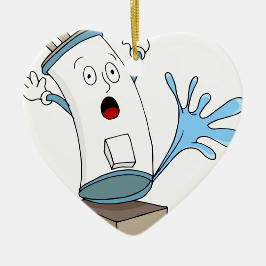 Leaking Water Heater Cartoon Christmas Ornament