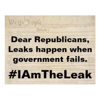 Leaks Happen When Government Fails Resist Postcard