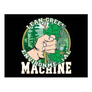 Lean, Green Environmental Machine Postcard