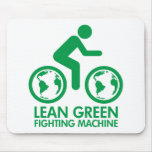 Lean Green Fighting Machine Mouse Pads