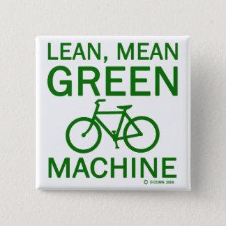 Lean Green Mean Machine 15 Cm Square Badge