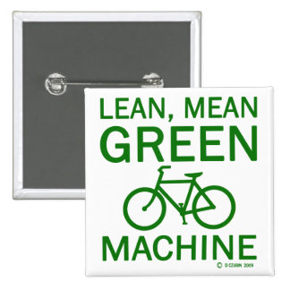 Lean Green Mean Machine 15 Cm Square Badge