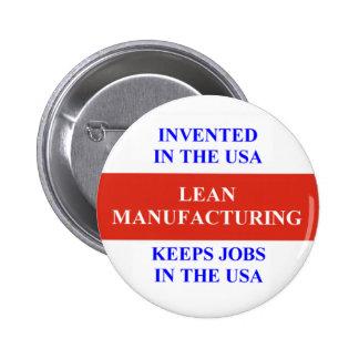 Lean Manufacturing 6 Cm Round Badge