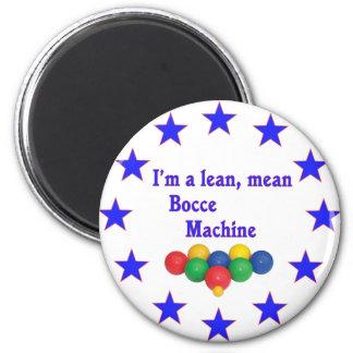 Lean Mean Bocce Machine 6 Cm Round Magnet