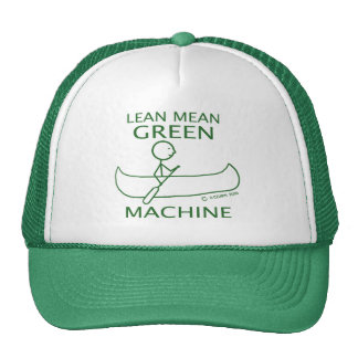 Lean Mean Green Machine Canoe Cap