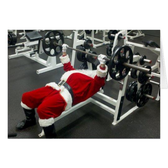 lean & mean Santa - funny silly christmas