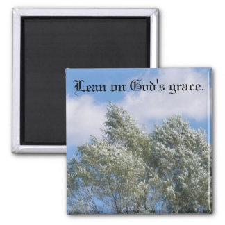 Lean on God s Grace Magnet