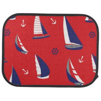 Lean Sailboat Pattern Car Mat