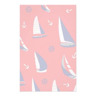 Lean Sailboat Pattern Stationery