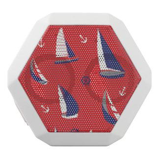 Lean Sailboat Pattern White Bluetooth Speaker