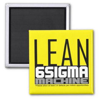 Lean Six Sigma Machine Yellow Belt Magnet