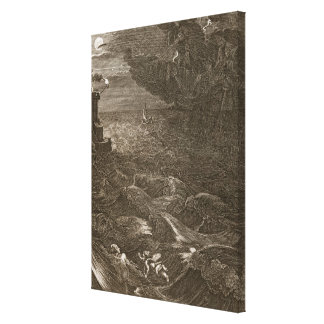 Leander Swims Over the Hellespont to Meet his Mist Gallery Wrapped Canvas