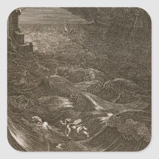Leander Swims Over the Hellespont to Meet his Mist Sticker