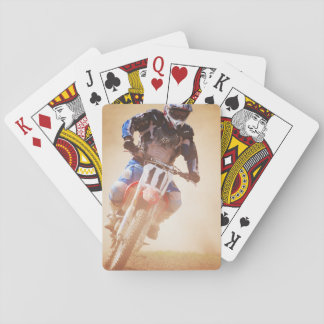 Leaning Dirtbike Racer Playing Cards